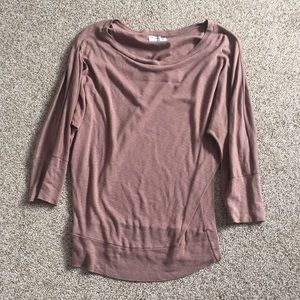 Michael Stars brown tunic top